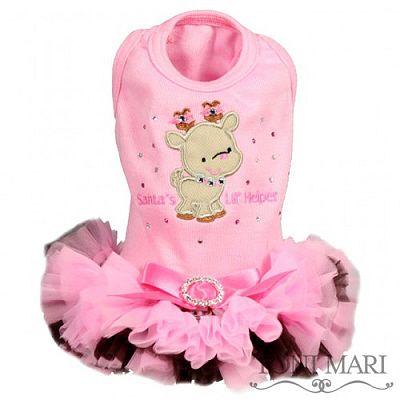 Santa's Lil Helper Pink Christmas Dog Dress .:BēLLäSFãSh!oN:.