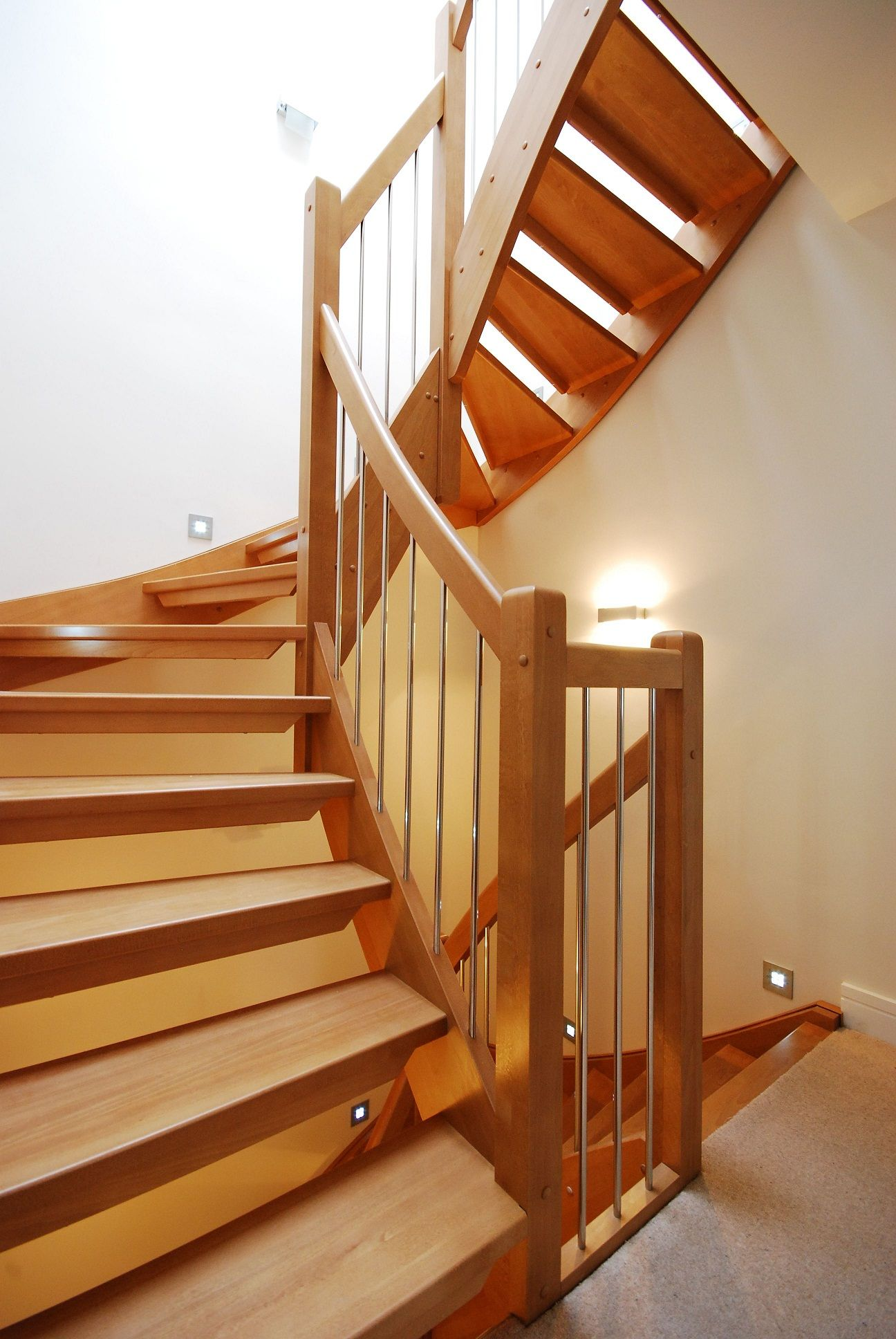 Fancy and modern wooden staircase | Design - Staircase ...