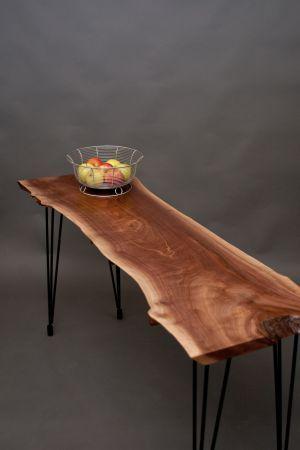 Black Walnut CONSOLE TABLE - Rustic/Modern - $695 ...