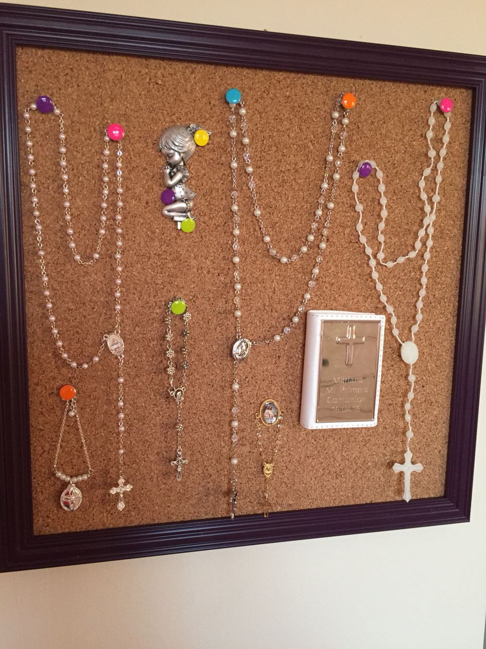 First Communion Rosary display