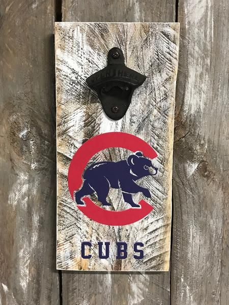 Chicago Cubs Vintage Style Bottle Opener – Custom Designs By MJ