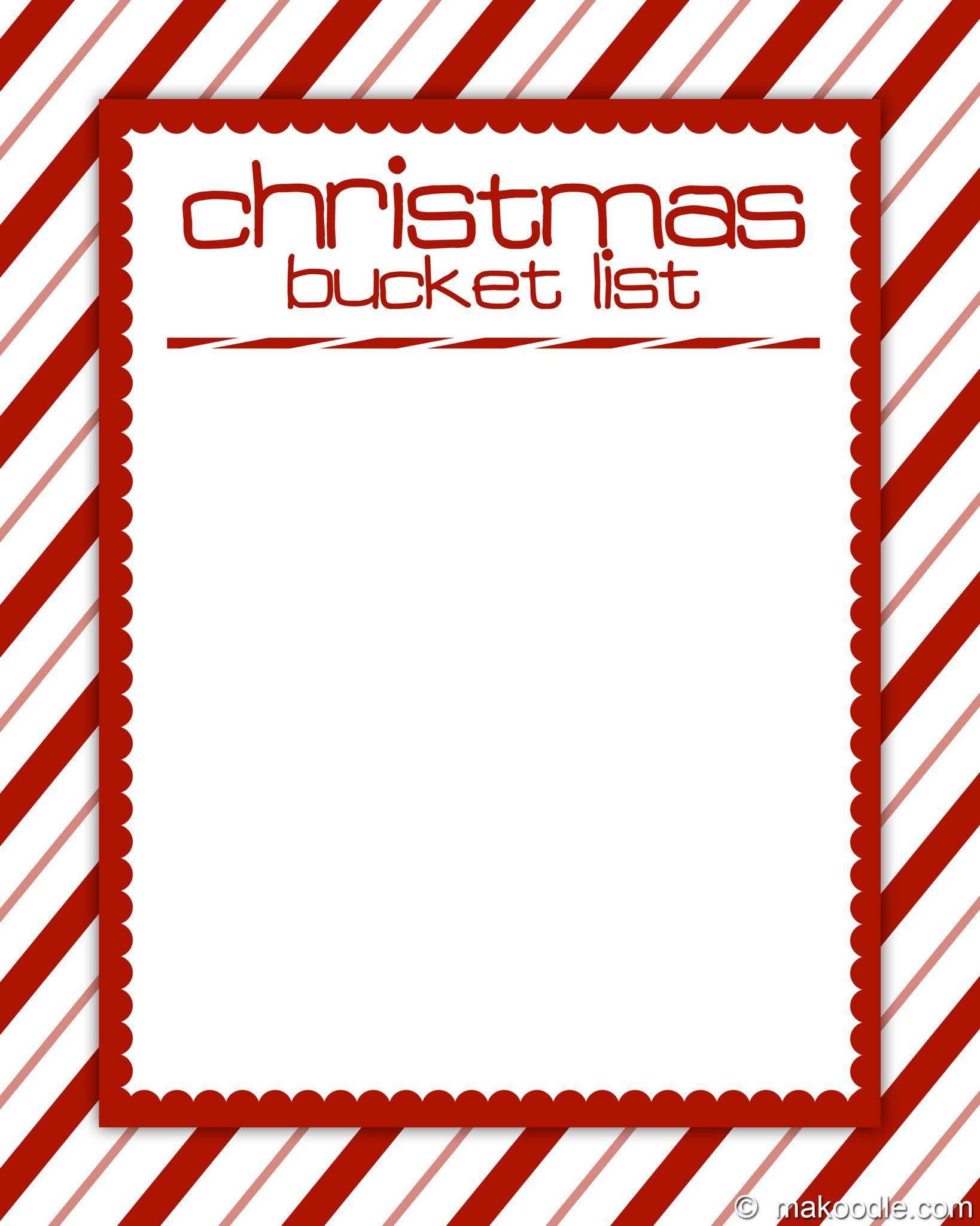 Christmas Card Backgrounds Christmas Bucket List Christmas Bucket List Printable Christmas Bucket