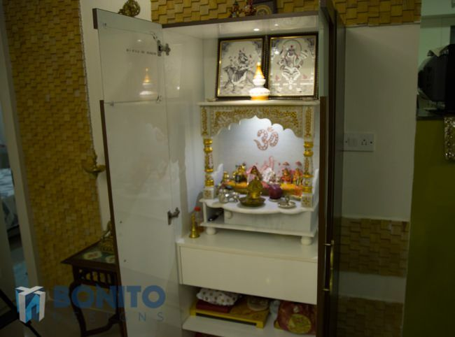 Beautiful pooja room door designs pooja room vastu photos for Living room door designs