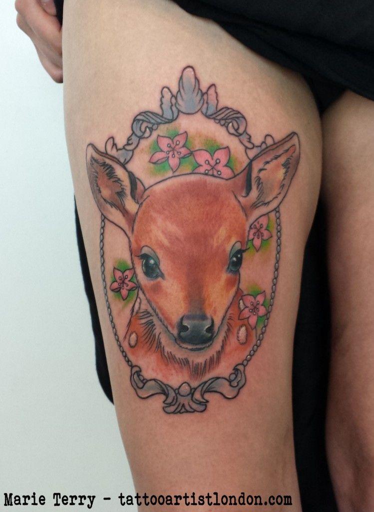 Deer Tattoo | London based Tattoo Artist - Marie TerryLondon based Tattoo Artist – Marie Terry
