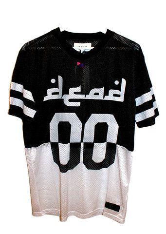 Dead Castle Project Dead Mesh Football Jersey Black | HOOLIGAN