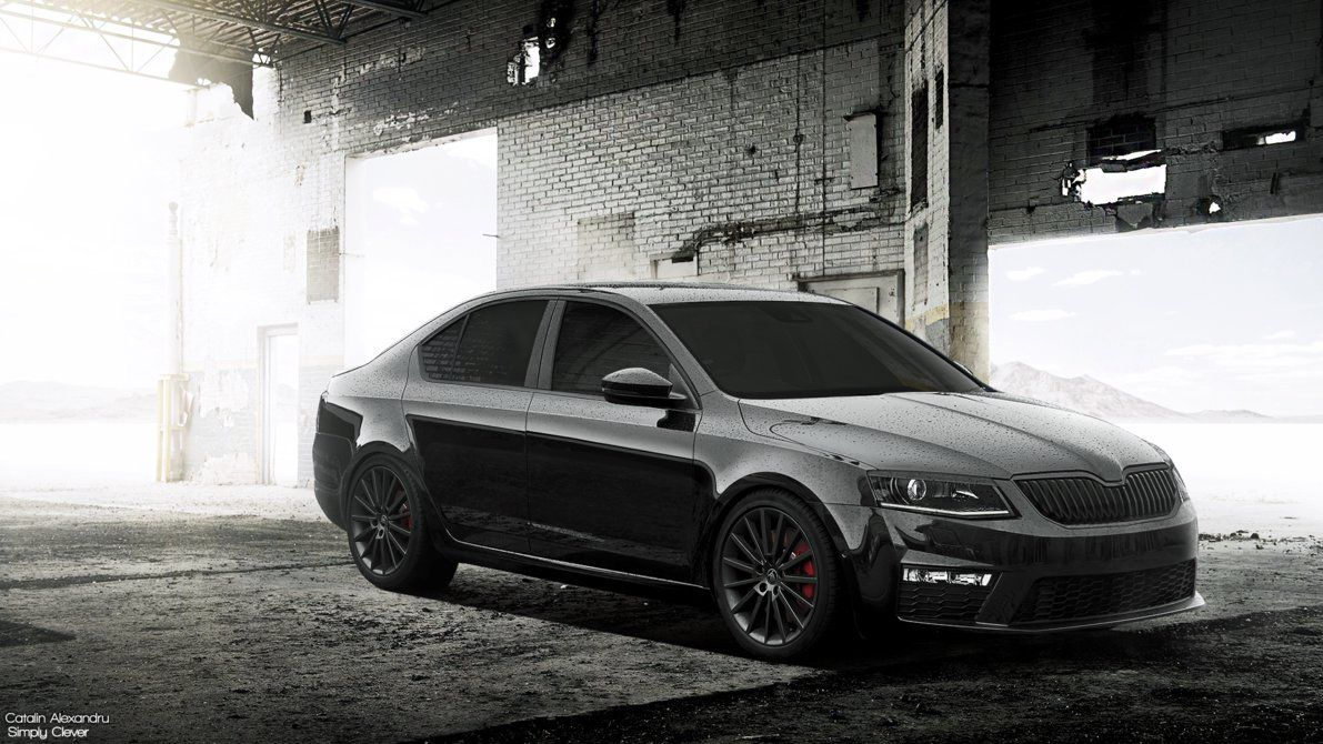 Black Skoda Octavia Rs Hd Wallpapers Skoda Octavia Rs Skoda