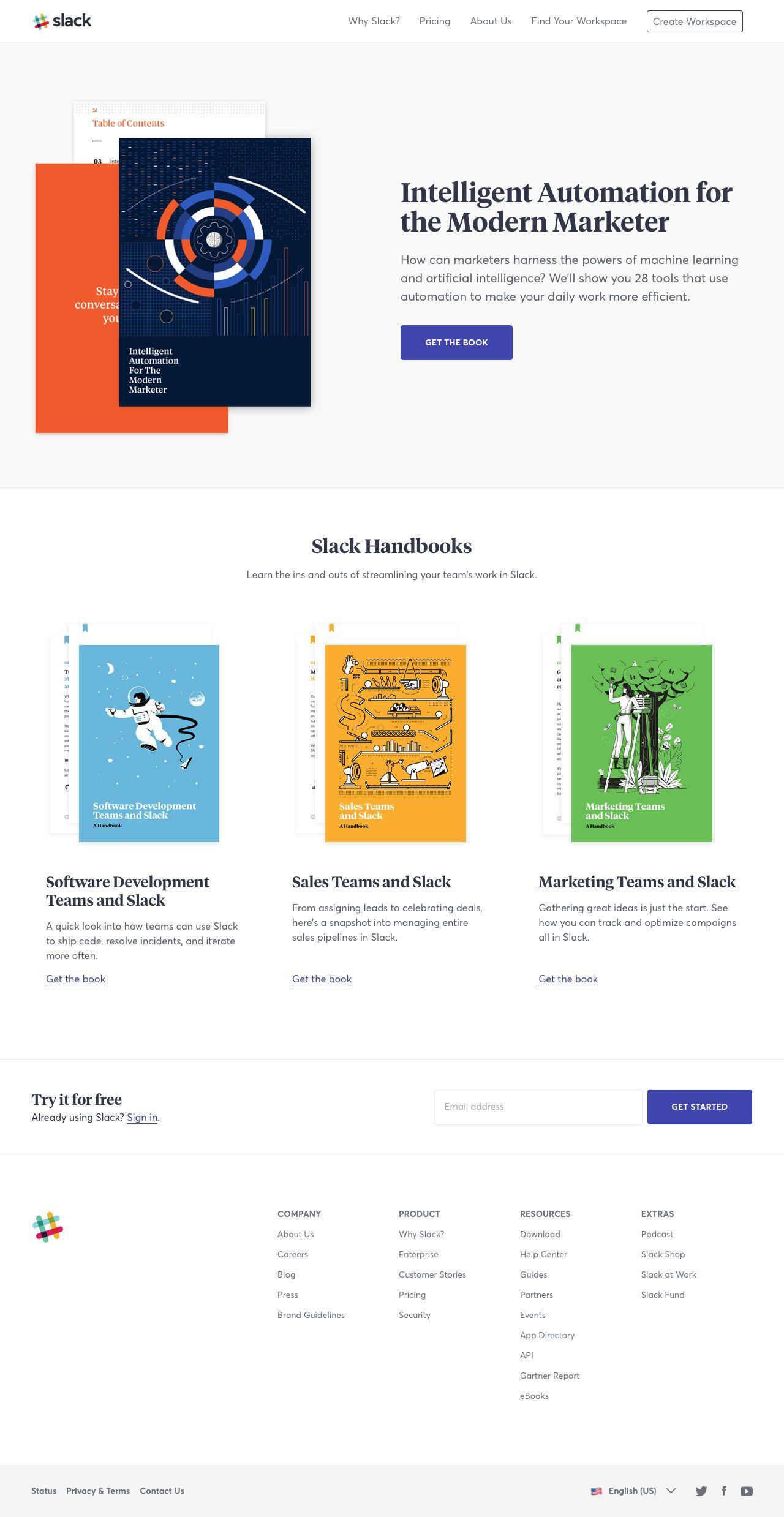 Slack Handbooks Landing Page Design Inspiration Lapa Ninja Web Design Books Landing Page Design Web App Design