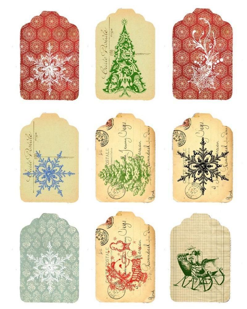 Мини открытка на новый год распечатать, надписью
