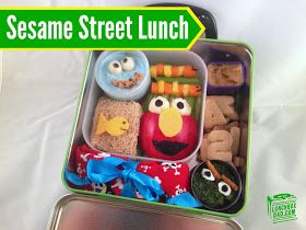 Sesame Street Bento Lunch with Elmo, Oscar The Grouch, and Cookie Monster