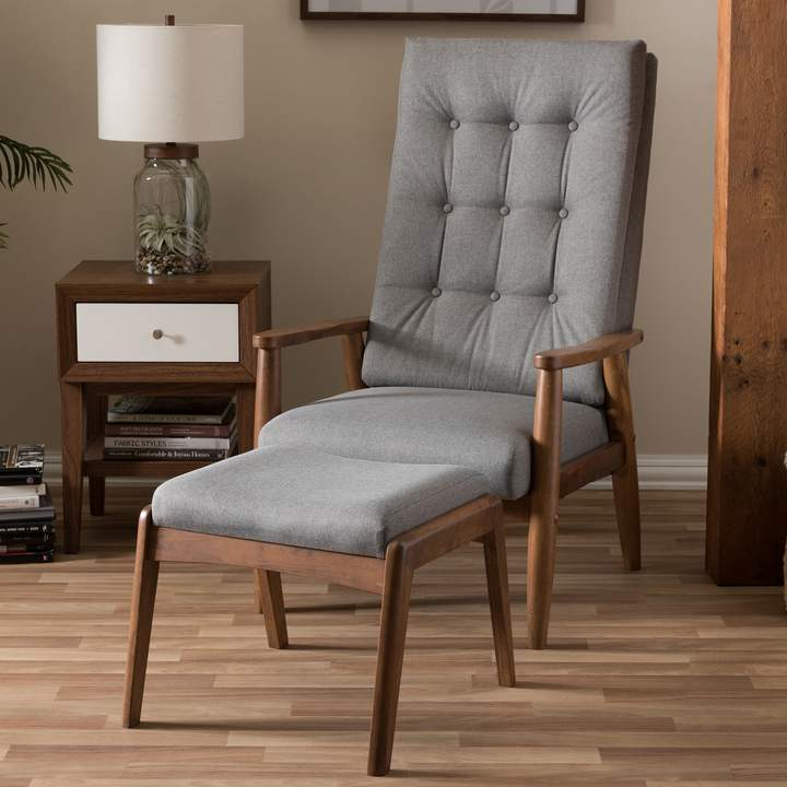 Incredible Baxton Studio Roxy Accent Chair Ottoman 2 Piece Set In Ibusinesslaw Wood Chair Design Ideas Ibusinesslaworg