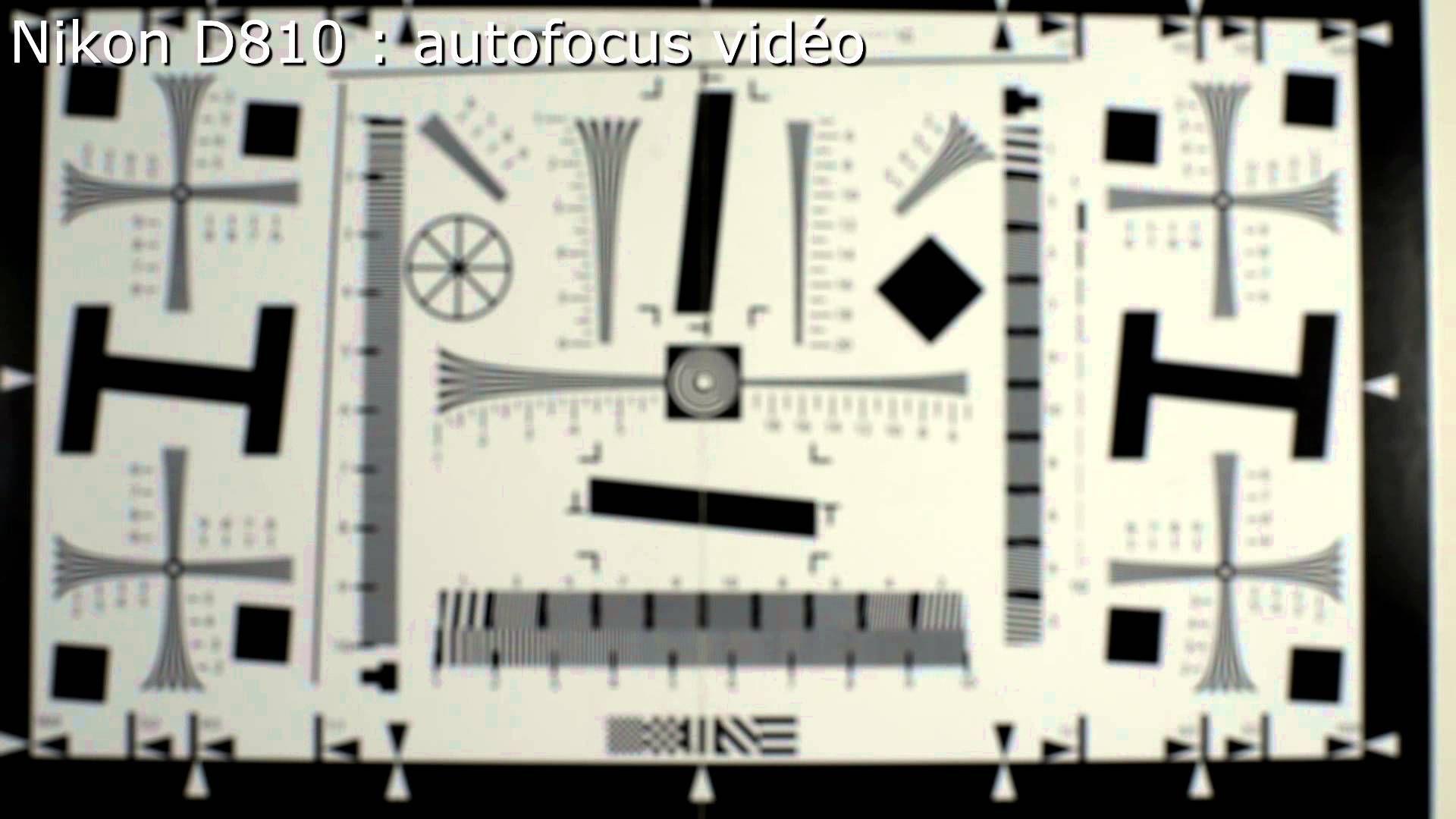 Nikon D810 autofocus vidéo