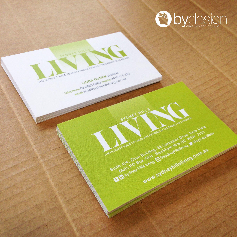 Sydney Hills Living business cards. byDesign Graphics © | byDesign ...