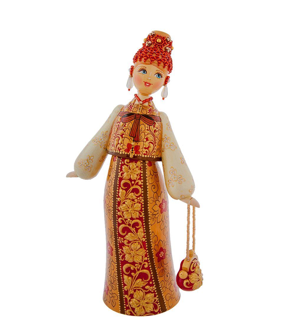 Кукла расписная средняя (дерев) E | Куклы, Дерево и Матрешка