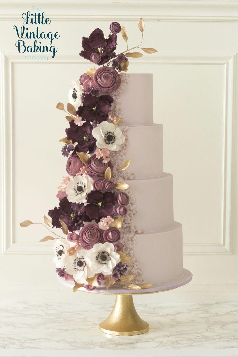 Modern textures, wedding cake for American Cake - CakesDecor