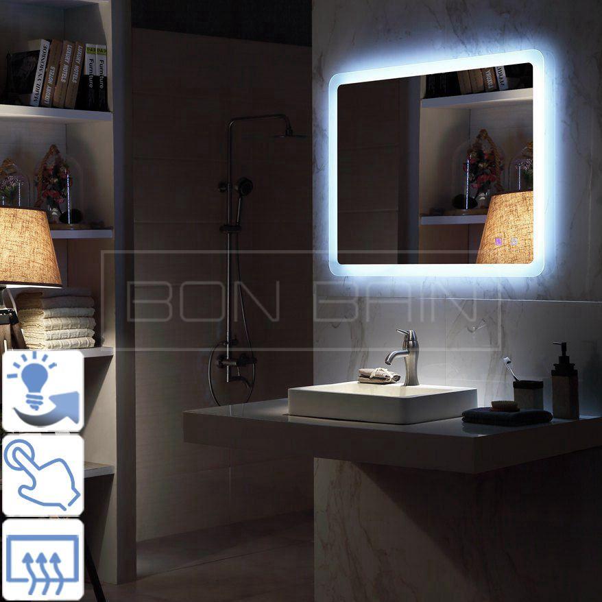 Miroir Salle De Bain Avec Eclairage A Suspendre Lumiere Bande Miroir Salle De Bain Salle De Bain Baignoire Design