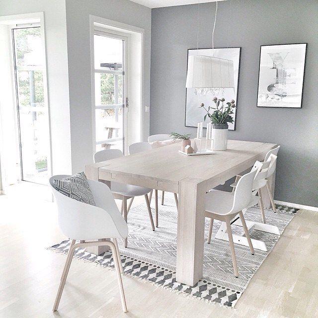 Dining room goals @moniithe love the House Doctor block rug ...
