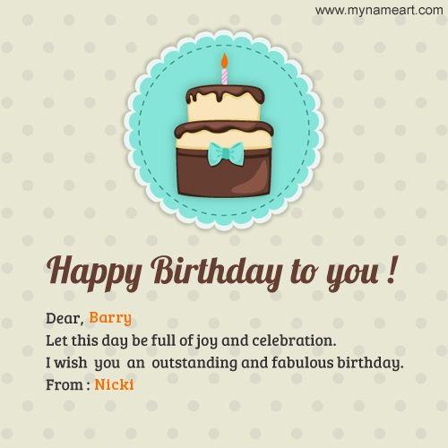Pin By Nafisa On Birthday Happy Birthday Writing Happy