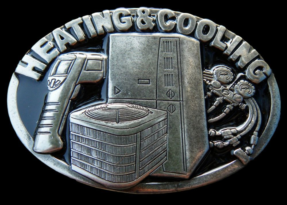 Heating Cooling Air Conditioner Technician Belt Buckle Boucle De
