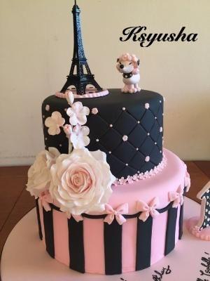 Paris Cake by roxie Ideas de inspiracin Pinterest Paris cakes