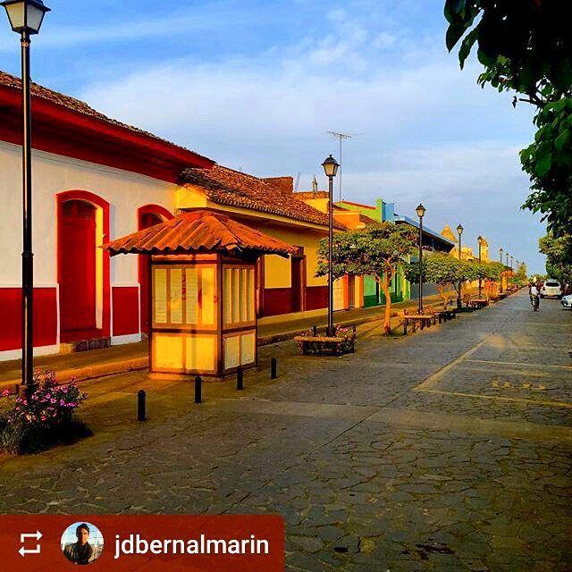 Follow @jdbernalmarin: #Sunset Calle La Calzada #Granada #Nicaragua #ILoveGranada #AmoGranada #Travel
