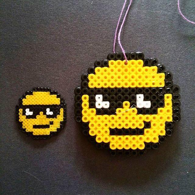 Emoticons hama mini/midi beads by ludka mor | Perler beads