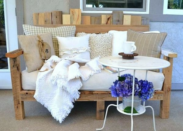 Holz Palette Sofa Balkon Polstermöbel Design Ideen - gartenmöbel aus