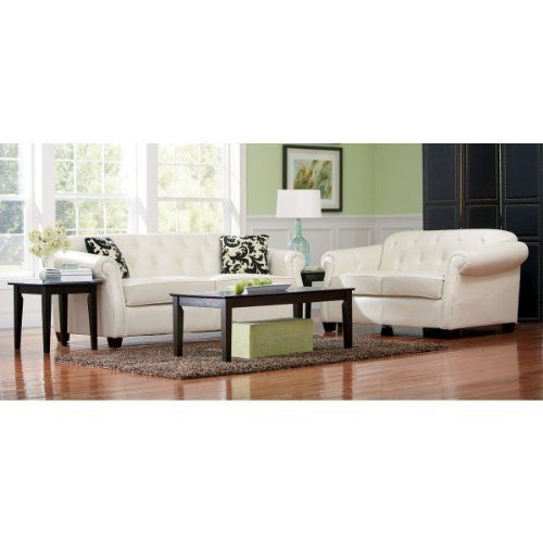 Kristyna Soft Cream Bonded Leather Sofa Set By Coaster By Coaster Home  Furnishings. $1203.56.