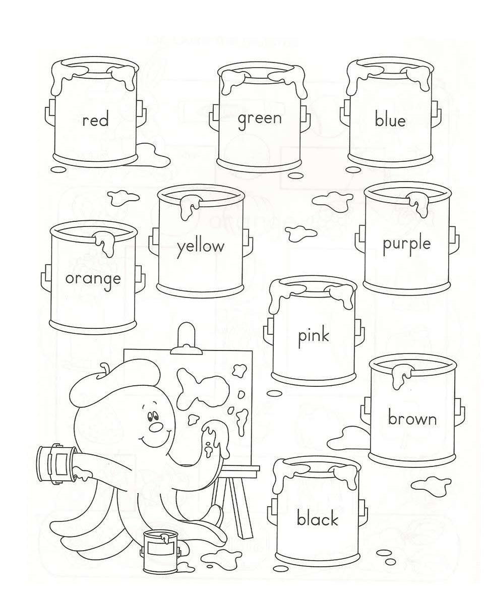 Preferência Los colores en inglés   Atividades de inglês 1º ao 5º ano  PE37