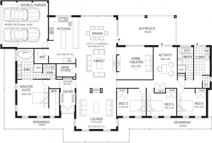 The Avon Lodge Four Bed Single Storey Home Design House Plans Floor Plans How To Plan