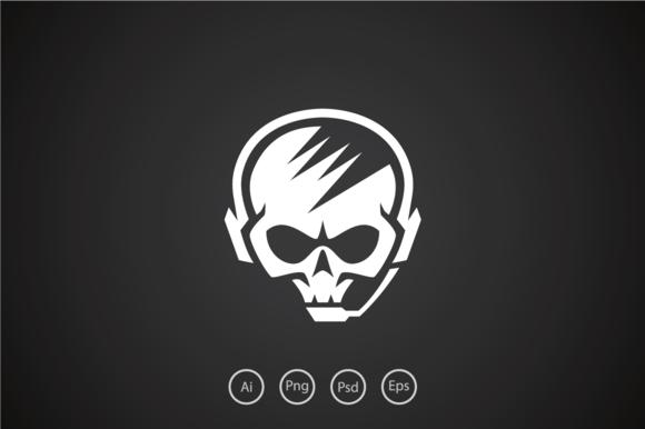 Hardcore Skull Gamer Logo Template by Heavtryq Design on