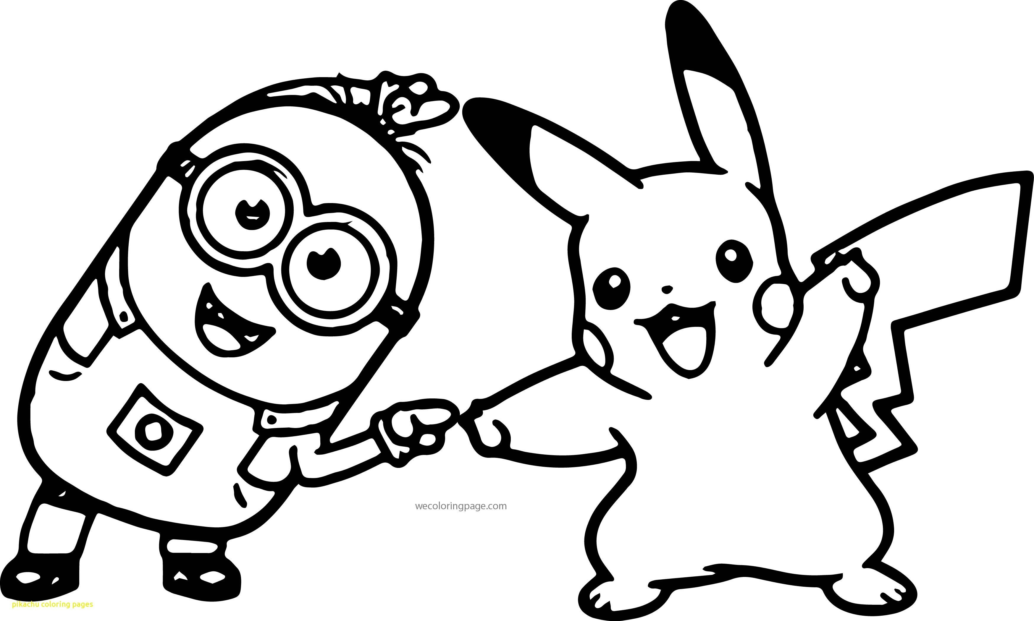 Minion and Pikachu Coloring Page Through the thousand