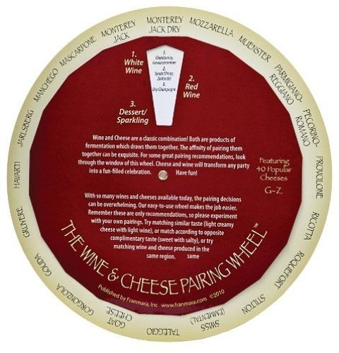Complementary Wines and Cheeses Pairing Matching Guide Wheel Franmara http://www.amazon.com/dp/B004G5F3IY/ref=cm_sw_r_pi_dp_uh0Awb0SEDAVT