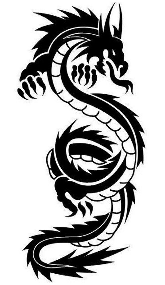 Awesome Tribal Dragon Tattoo Designs Dragon Tattoo Tatouage