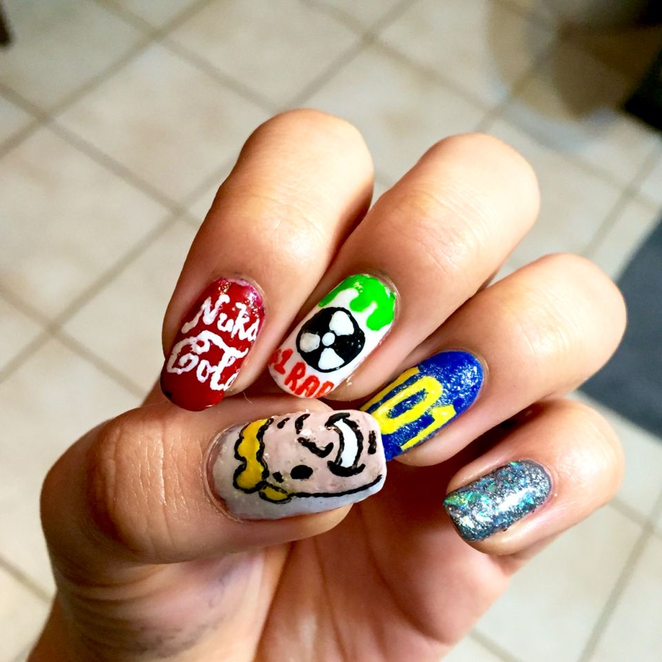 Fallout game inspired nail art | Nail art by me | Pinterest ...