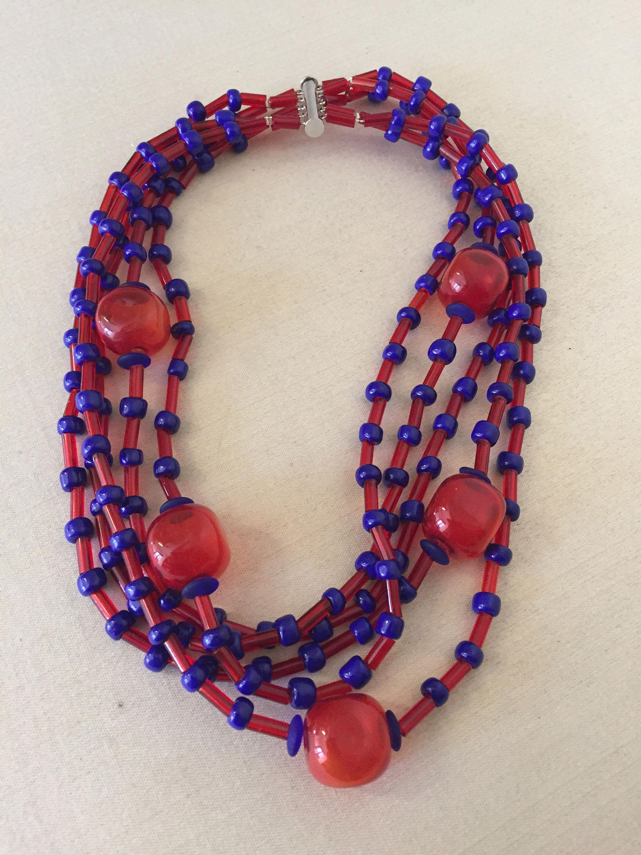 collana di perle in vetro - glass beads - perline minute - micro beads - conterie - murano - murano glass necklace - murano glass jewelry di Sanmarcoartedesign su Etsy