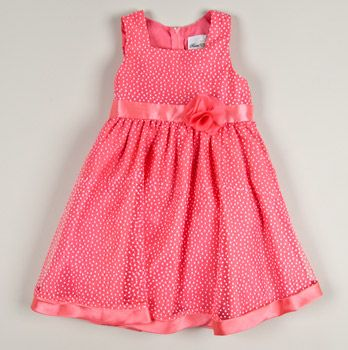 Toddler Flock Dot Dress with Flower      $20.50  Original $60.00