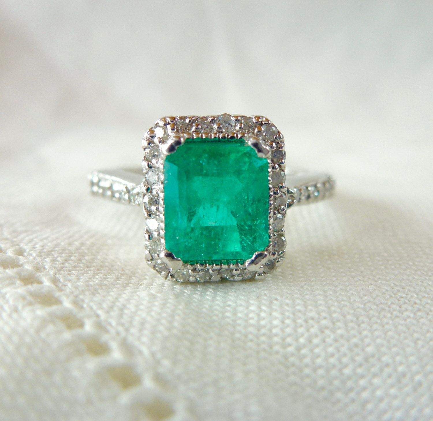 emerald ring three cut tanzanite products diamond traditional stone