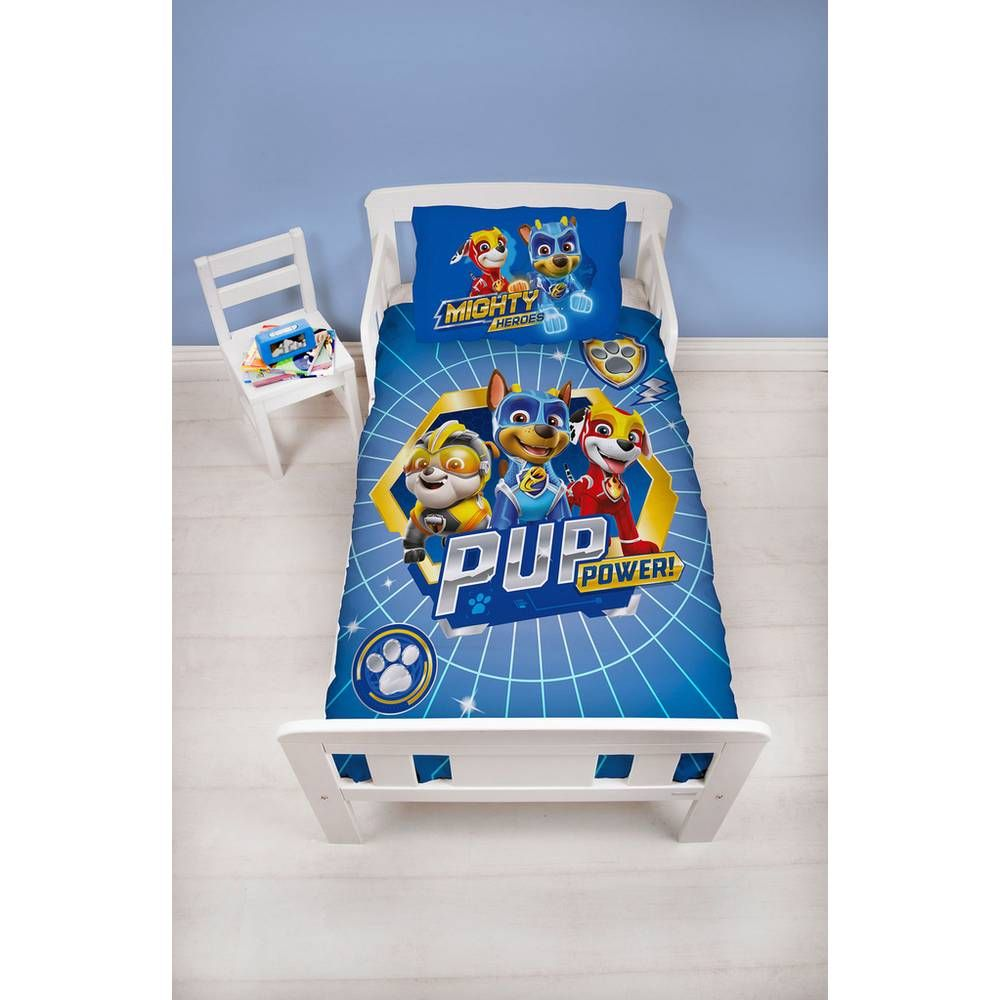 Buy PAW Patrol Bedding Set  Toddler   Kids duvet sets - Kids duvet set, Paw patrol bedding, Kids duvet, Bedding set, Duvet sets, Toddler pillow - Fans of the hit TV show PAW Patrol new show Mighty Pups will love this fun, colourful junior duvet  This junior duvet featuring the popular puppies is ideal for fans to have in their bedrooms  Matching accessories available and officialy licensed  Set comprises of 1 duvet cover and 1 pillowcase  Machine washable covers  Suitable for tumble drying  100% polyester  Poppers for fastening  EAN 5056197122778