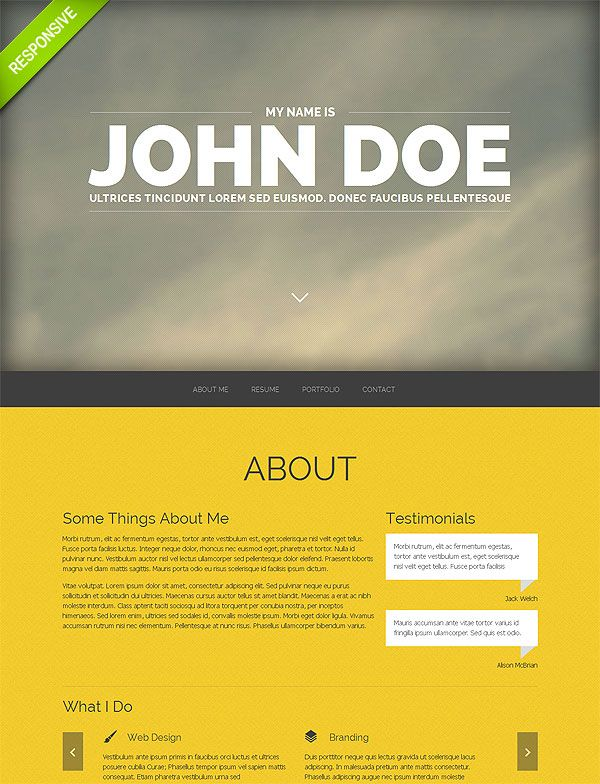 portfolio one page site template one page site pinterest first
