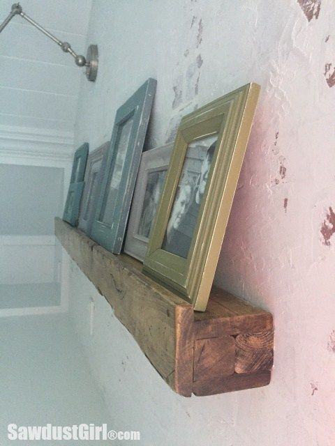 Photo of Picture Ledge – Faux Reclaimed Beam – Sawdust Girl®