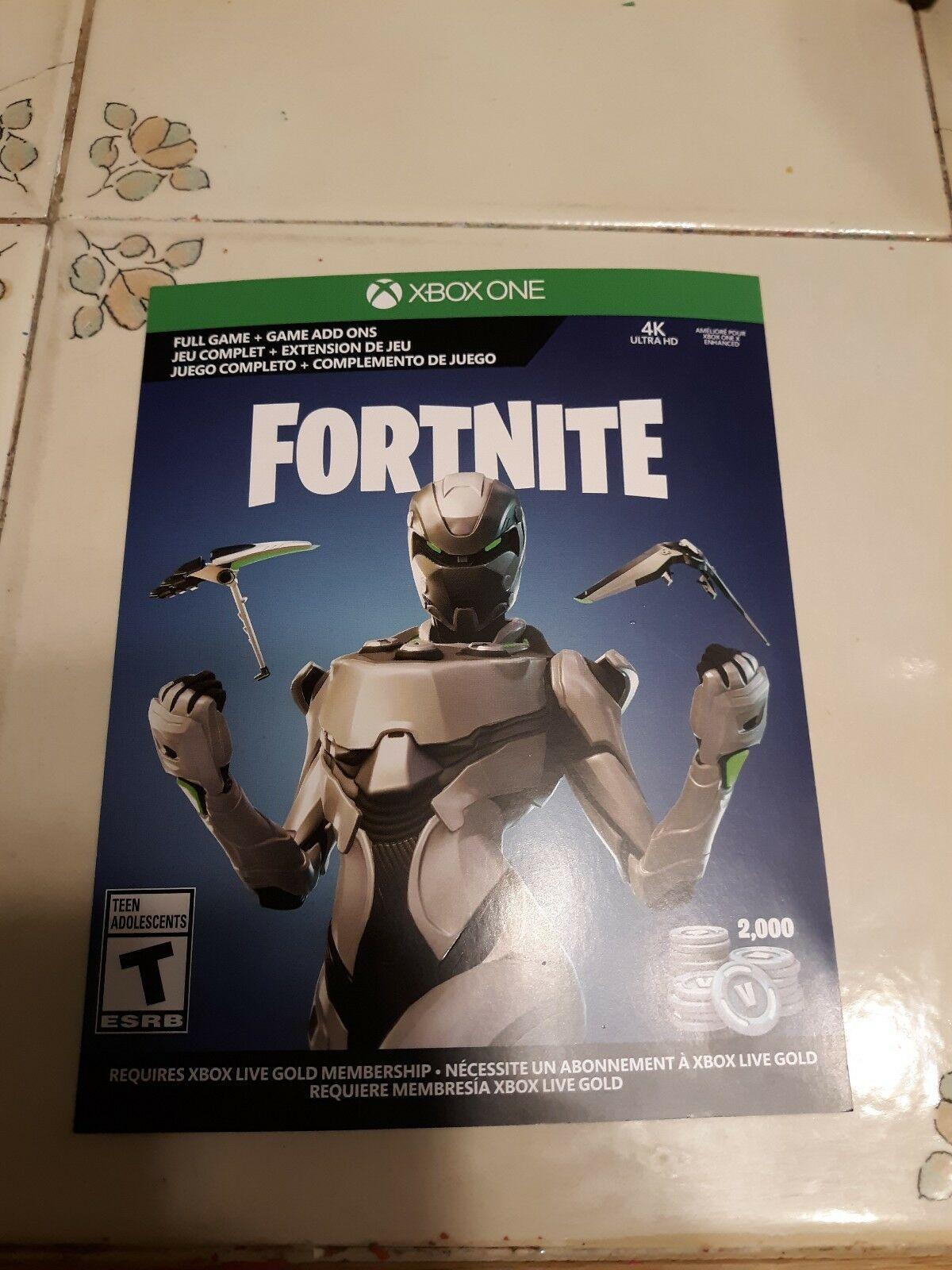 Xbox One Fortnite Full Game Add Ons Eon Cosmetic Set 2000 V Bucks