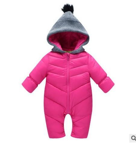 Baby Boy Girl Winter Clothing Rompers Hooded Baby Girl Clothes