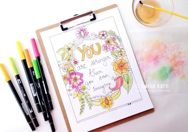 Watercoloring Using Tombow Markers: Video Tutorial | Tombow ...