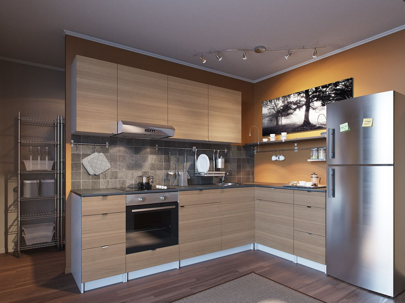 Visualization of kitchens for IKEA catalogs. on Behance in
