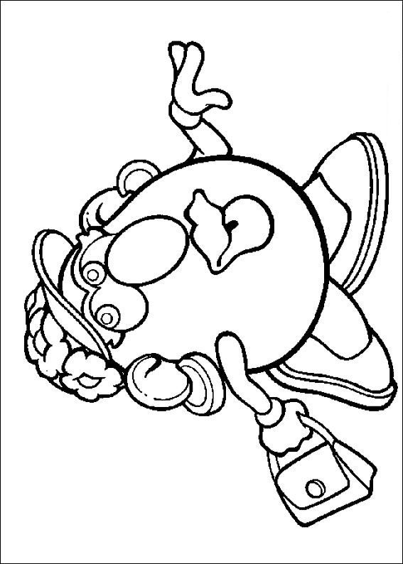 57 coloring pages of Mr. Potato Head on Kids-n-Fun.co.uk