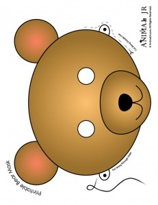 Bear Mask Coloring You'll Love