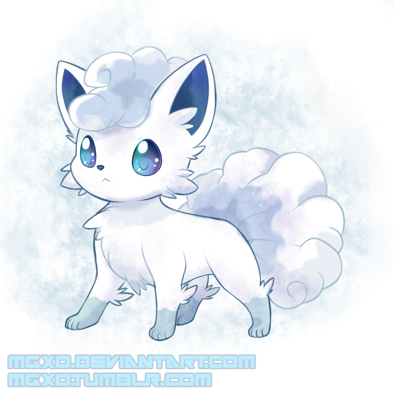 Vulpix Forma Alola Pokemon Pokemon Drawings Pokemon Funny