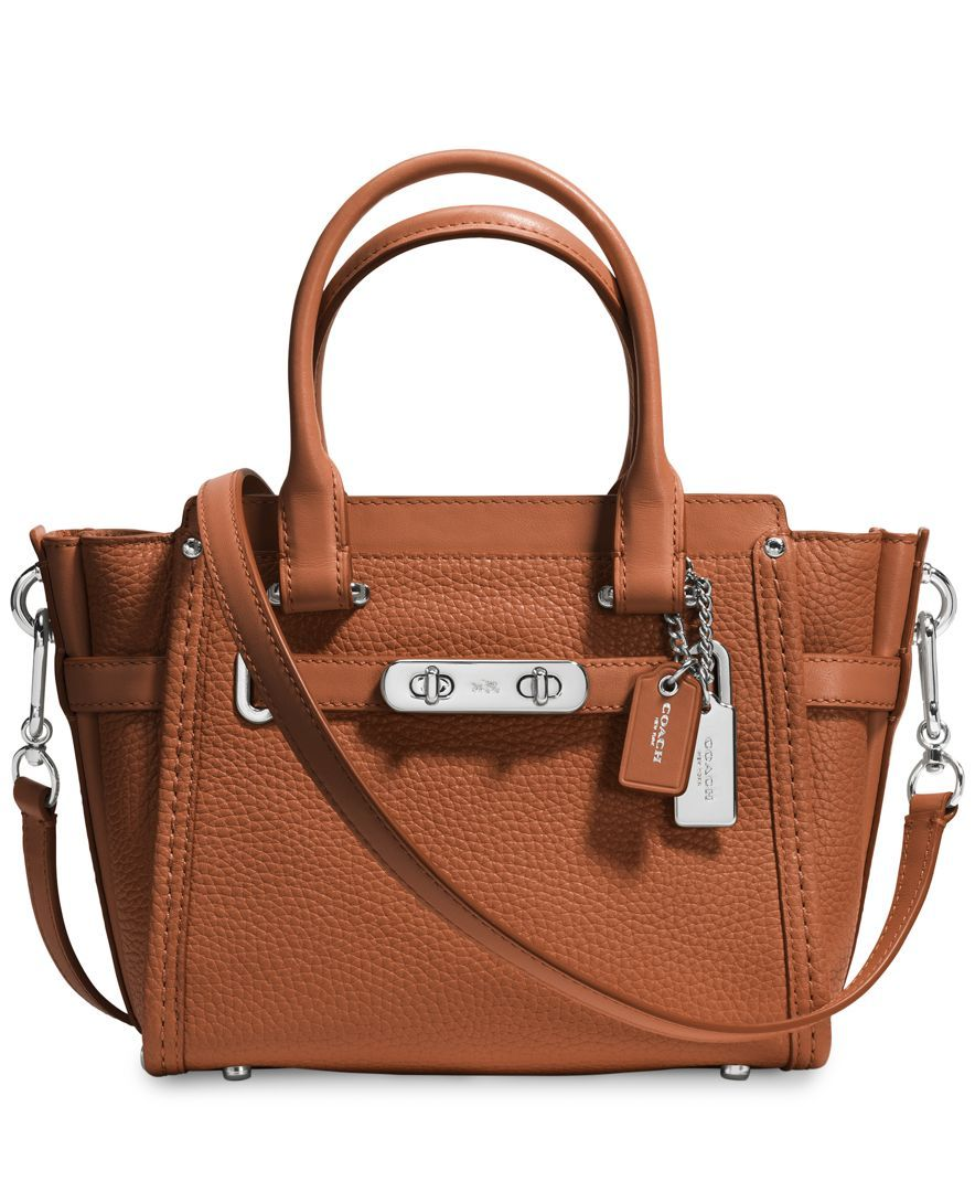 cbf716764395 Coach Swagger 21 Carryall in Pebble Leather