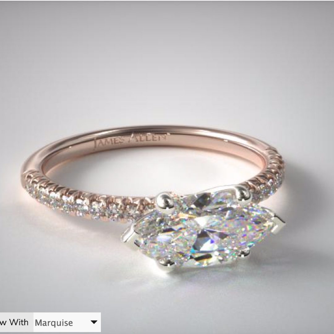 Pin On East West Engagement Ring Settings