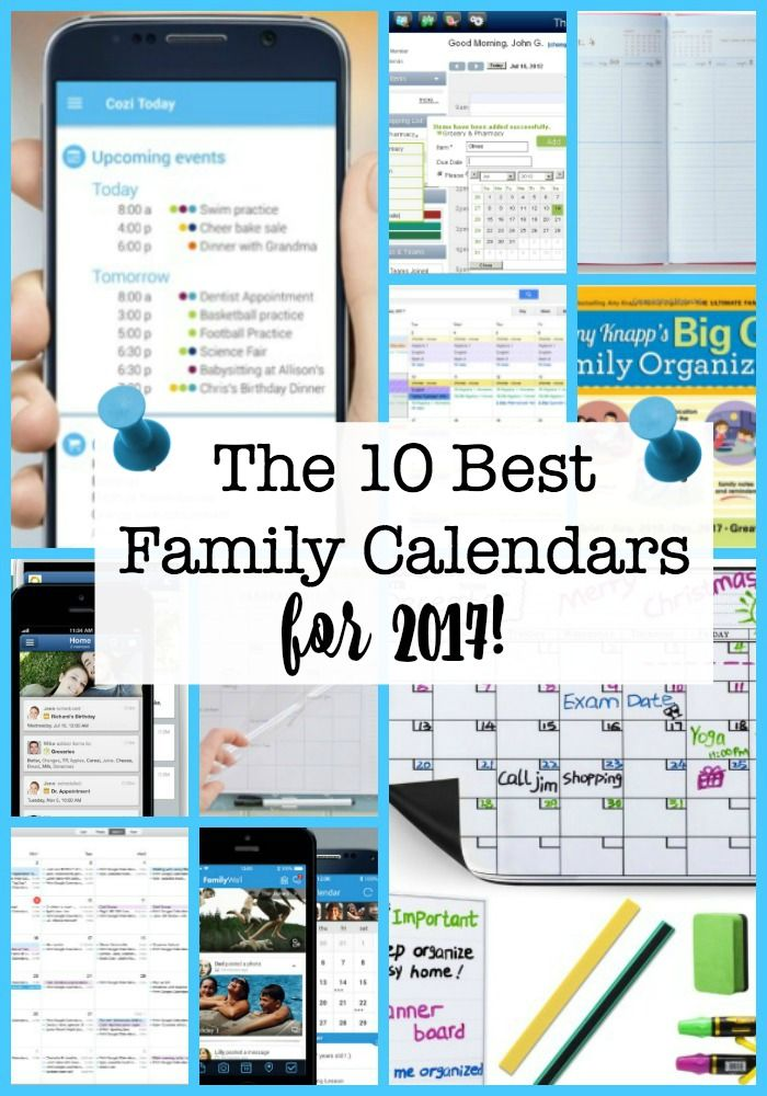 shopping for a new family calendar for 2018 here are the 10 best